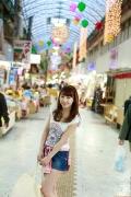 Ayumi Ishida 17 years old Morning Musume 14 Swimsuit with emerald green sea in the background037