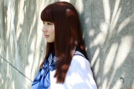 Ayumi Ishida 17 years old Morning Musume 14 Swimsuit with emerald green sea in the background039