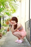 Ayumi Ishida 17 years old Morning Musume 14 Swimsuit with emerald green sea in the background034