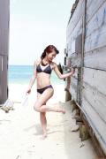 Ayumi Ishida 17 years old Morning Musume 14 Swimsuit with emerald green sea in the background042