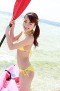 Ayumi Ishida 17 years old Morning Musume 14 Swimsuit with emerald green sea in the background043