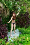 Ayumi Ishida 17 years old Morning Musume 14 Swimsuit with emerald green sea in the background045