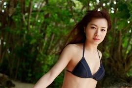 Ayumi Ishida 17 years old Morning Musume 14 Swimsuit with emerald green sea in the background047