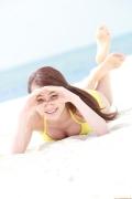 Ayumi Ishida 17 years old Morning Musume 14 Swimsuit with emerald green sea in the background051
