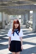Ayumi Ishida 17 years old Morning Musume 14 Swimsuit with emerald green sea in the background050