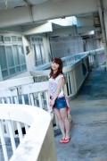Ayumi Ishida 17 years old Morning Musume 14 Swimsuit with emerald green sea in the background055