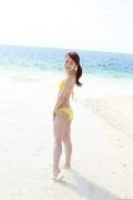 Ayumi Ishida 17 years old Morning Musume 14 Swimsuit with emerald green sea in the background061
