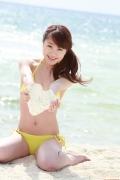 Ayumi Ishida 17 years old Morning Musume 14 Swimsuit with emerald green sea in the background062