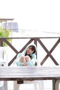 Ayumi Ishida 17 years old Morning Musume 14 Swimsuit with emerald green sea in the background065