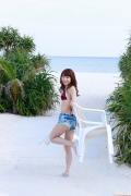 Ayumi Ishida 17 years old Morning Musume 14 Swimsuit with emerald green sea in the background064