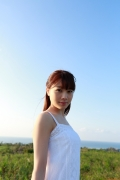 Ayumi Ishida 17 years old Morning Musume 14 Swimsuit with emerald green sea in the background069