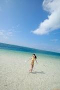 Ayumi Ishida 17 years old Morning Musume 14 Swimsuit with emerald green sea in the background066