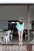 Ayumi Ishida 17 years old Morning Musume 14 Swimsuit with emerald green sea in the background070