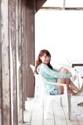 Ayumi Ishida 17 years old Morning Musume 14 Swimsuit with emerald green sea in the background071