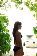 Ayumi Ishida 17 years old Morning Musume 14 Swimsuit with emerald green sea in the background075