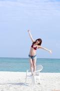 Ayumi Ishida 17 years old Morning Musume 14 Swimsuit with emerald green sea in the background076