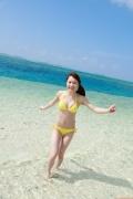 Ayumi Ishida 17 years old Morning Musume 14 Swimsuit with emerald green sea in the background078