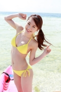 Ayumi Ishida 17 years old Morning Musume 14 Swimsuit with emerald green sea in the background079