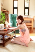 Ayumi Ishida 17 years old Morning Musume 14 Swimsuit with emerald green sea in the background080