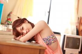 Ayumi Ishida 17 years old Morning Musume 14 Swimsuit with emerald green sea in the background085