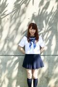 Ayumi Ishida 17 years old Morning Musume 14 Swimsuit with emerald green sea in the background088