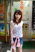 Ayumi Ishida 17 years old Morning Musume 14 Swimsuit with emerald green sea in the background092