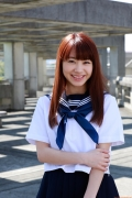Ayumi Ishida 17 years old Morning Musume 14 Swimsuit with emerald green sea in the background093