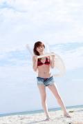 Ayumi Ishida 17 years old Morning Musume 14 Swimsuit with emerald green sea in the background095