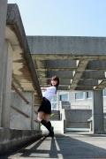 Ayumi Ishida 17 years old Morning Musume 14 Swimsuit with emerald green sea in the background096