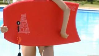 Misaki Komatsu Mizuno White swimsuit image006