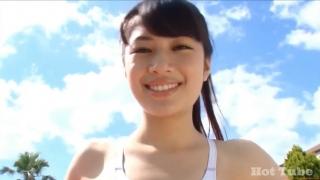 Misaki Komatsu Mizuno White swimsuit image029