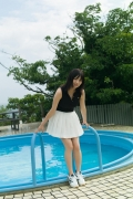 Nanami Sato Former AKB48 Team 8 Nanami Satorepresentative of Iwate Prefectureshows off her swimsuit gravure051