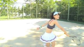 Minami Yamada tennis in swimsuit Tennis in bikini Tennis shower 2020004