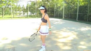 Minami Yamada tennis in swimsuit Tennis in bikini Tennis shower 2020006