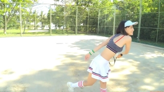Minami Yamada tennis in swimsuit Tennis in bikini Tennis shower 2020009