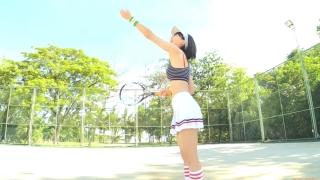Minami Yamada tennis in swimsuit Tennis in bikini Tennis shower 2020015