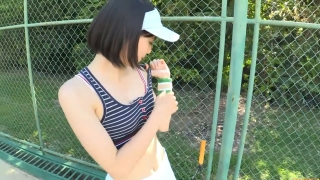 Minami Yamada tennis in swimsuit Tennis in bikini Tennis shower 2020027