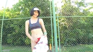 Minami Yamada tennis in swimsuit Tennis in bikini Tennis shower 2020036