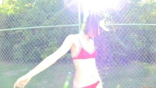 Minami Yamada tennis in swimsuit Tennis in bikini Tennis shower 2020049