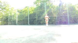 Minami Yamada tennis in swimsuit Tennis in bikini Tennis shower 2020065