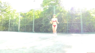 Minami Yamada tennis in swimsuit Tennis in bikini Tennis shower 2020066