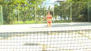 Minami Yamada tennis in swimsuit Tennis in bikini Tennis shower 2020117