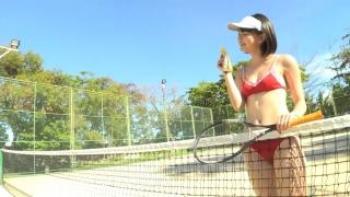 Minami Yamada tennis in swimsuit Tennis in bikini Tennis shower 2020141
