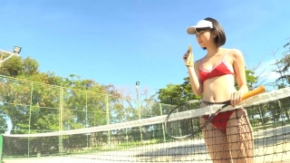 Minami Yamada tennis in swimsuit Tennis in bikini Tennis shower 2020142