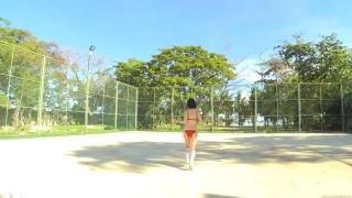 Minami Yamada tennis in swimsuit Tennis in bikini Tennis shower 2020151