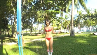 Minami Yamada tennis in swimsuit Tennis in bikini Tennis shower 2020156