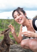 Kazusa Okuyama gravure swimsuit picture from heroine to full-fledged actress, the beautiful body in Australia part 2043