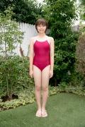 Asahina Saya red school swimsuit001
