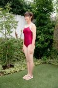 Asahina Saya red school swimsuit002