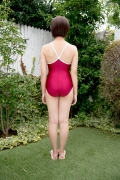 Asahina Saya red school swimsuit004